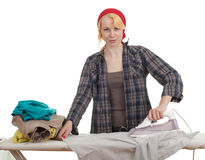 Ironing woman Stock Image