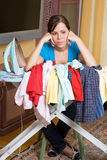 Ironing woman Stock Image