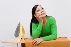 Ironing woman Stock Photography