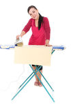 Ironing woman Stock Photos
