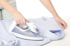 Ironing woman Royalty Free Stock Image