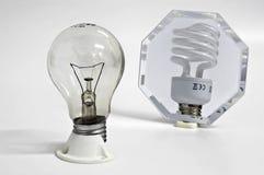 Ironisch stilleven met lampen Royalty-vrije Stock Foto