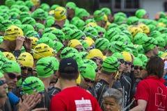 Ironman瑞士游泳开始2014年 免版税库存图片