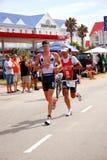 ironman连续triathletes 库存照片