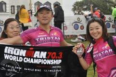 Ironman Южная Африка - чемпионат мира в Port Elizabeth в Южной Африке стоковые изображения
