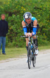 Ironman 2012 triathlete cycling royalty free stock image
