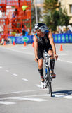 Ironman 2012 triathlete cycling stock photography