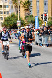 Ironman 2012 triathlete running royalty free stock image