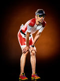 Ironman corriente del triathlon del corredor del hombre foto de archivo libre de regalías