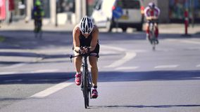 Ironman Cyclists Stock Photo