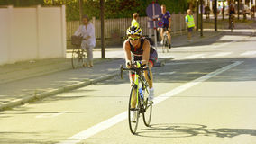 Ironman Cyclists Royalty Free Stock Photography