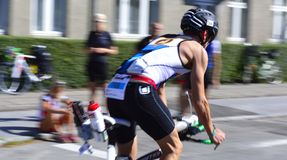Ironman Cyclists Stock Photography