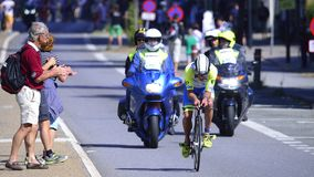 Ironman Cyclists Royalty Free Stock Photo