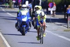 Ironman Cyclists Royalty Free Stock Image