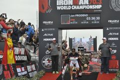 Ironman 70 d'Izuzi championnat des 3 mondes à Port Elizabeth en Afrique du Sud images stock