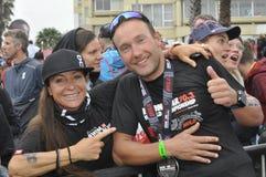 Ironman 70 de Izuzi campeonato de 3 mundos en Port Elizabeth en Suráfrica foto de archivo