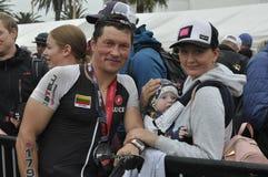 Ironman 70 de Izuzi campeonato de 3 mundos en Port Elizabeth en Suráfrica fotos de archivo libres de regalías