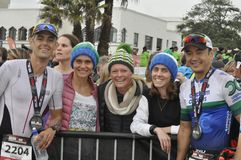 Ironman 70 de Izuzi campeonato de 3 mundos en Port Elizabeth en Suráfrica fotografía de archivo