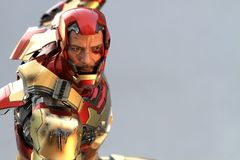 IRONMAN Figure Model 1/4 scale in action fighting royalty free stock photos