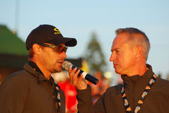 Ironman interview with Raynard Tissink stock images