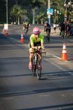 Ironman 70.3 Lima - Peru 2018. LIMA, PERU - APRIL 22th 2018: Ironman 70.3 . Athletes competing in the second stage of this great competition that is now cycling Stock Image