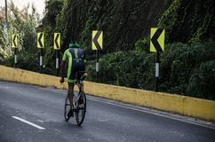 Ironman 70.3 Lima - Peru 2018. LIMA, PERU - APRIL 22th 2018: Ironman 70.3 . Athletes competing in the second stage of this great competition that is now cycling Royalty Free Stock Images