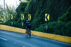 Ironman 70.3 Lima - Peru 2018. LIMA, PERU - APRIL 22th 2018: Ironman 70.3 . Athletes competing in the second stage of this great competition that is now cycling Royalty Free Stock Photos