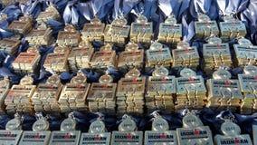 Ironman medaljer Arkivfoton