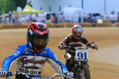 Ironman motorcycle race Stock Images