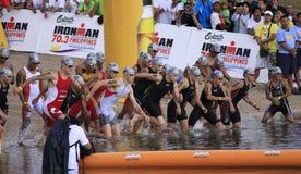 ironman philippines race startsimning Arkivbilder