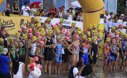 Ironman Philippines swimming race start Stock Image