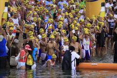 Ironman Philippines swimming race start Stock Photos
