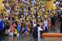 ironman simning för philippines racestart Arkivfoton