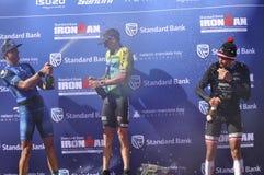 Ironman -2019 surafricano, señoras ganador, Lucy Charles - Barclay fotografía de archivo libre de regalías