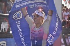 Ironman -2019 surafricano, señoras ganador, Lucy Charles - Barclay imágenes de archivo libres de regalías