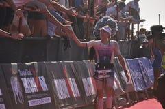 Ironman -2019 surafricano, señoras ganador, Lucy Charles - Barclay foto de archivo