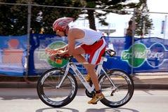 Ironman triathlete Andreas Niedrig (Germany) stock photo