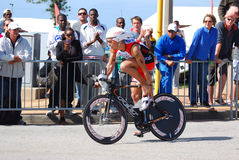 Ironman triathlete cyclist Royalty Free Stock Photography