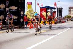ironman triathletes Royaltyfri Fotografi