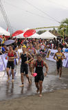 Ironman triathlon marathon run race Stock Photo
