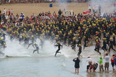 Ironman triathlon start Stock Photography