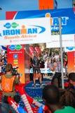 Ironman triathlon winner royalty free stock photography
