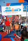 Ironman triathlon winners royalty free stock images
