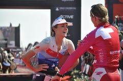 Ironman 70 un campionato di 3 mondi nel elizaeth del porto in Sudafrica fotografia stock libera da diritti
