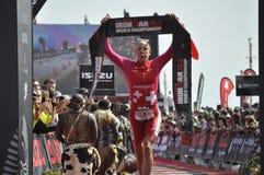 Ironman 70 un campionato di 3 mondi nel elizaeth del porto in Sudafrica fotografia stock