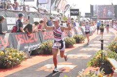 Ironman 70 un campionato di 3 mondi nel elizaeth del porto in Sudafrica immagini stock