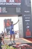 Ironman 70 3 Weltmeisterschaft in Hafen elizaeth in Südafrika lizenzfreie stockfotos