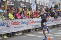 Ironman 70 3 Weltmeisterschaft in Hafen elizaeth in Südafrika lizenzfreies stockfoto
