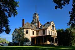 Ironmaster Mansion na vila histórica velha de Batsto Foto de Stock