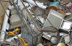 Irons left in a landfill hazardous metals Stock Photography